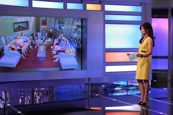 "Host Julie Chen on ""Big Brother,"" which captured the top prime-time spot Thursday with its eviction episode."