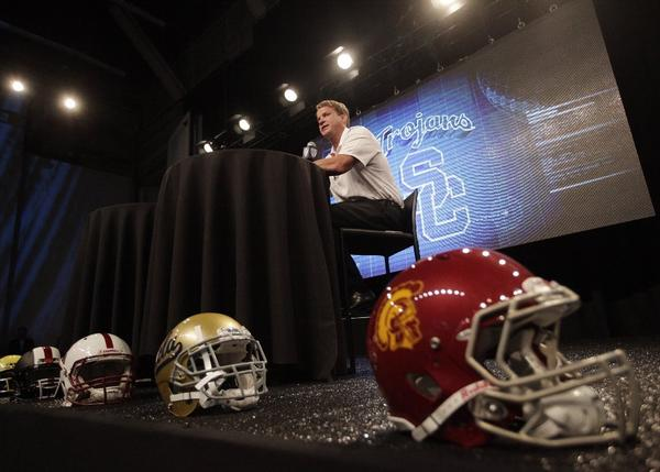 USC Coach Lane Kiffin will begin conducting practices Saturday.
