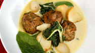 Recipe: Meatball <i>haslama</i> with tahini liaison