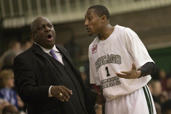Chicago State coach Tracy Dildy (left).