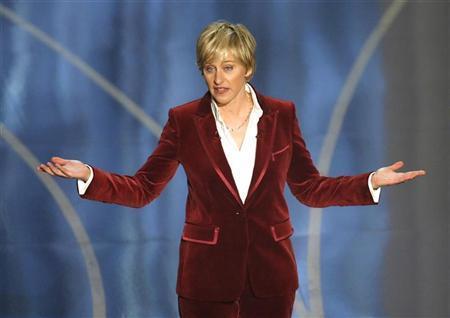 Ellen DeGeneres was a perky presence as host of the 2007 Academy Awards.