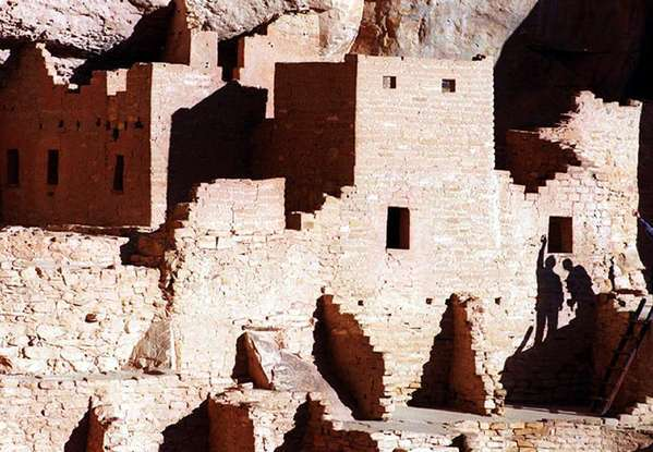 Ruins of ancient cliff dwellings of Mesa Verde near Cortez, Colo.