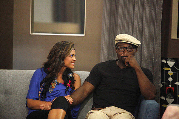 "Houseguests Candice and Howard on CBS' ""Big Brother,"" which has been gripped by a racism scandal this summer."