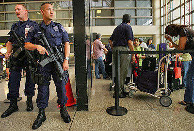 In 2006, a terrorism threat against U.S. jetliners caused an increase in security at airports such as LAX.