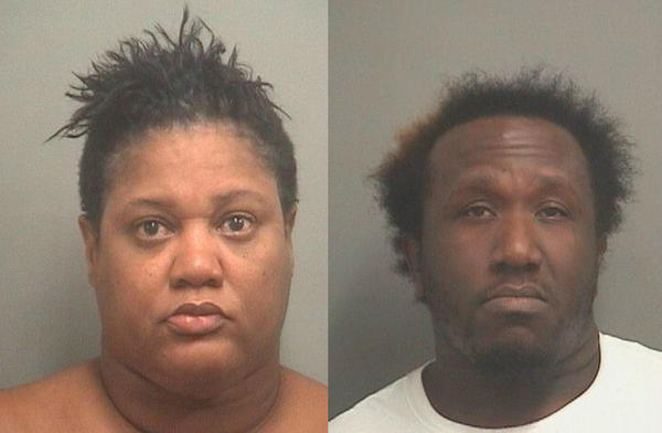Toye Nicole Anderson, 41, of Palm Springs and Donat Simeus, 29, of West Palm Beach, were arrested Thursday after Boca Raton police found $3,229 worth of clothes stolen from Town Center Mall in a car they were in, police say.