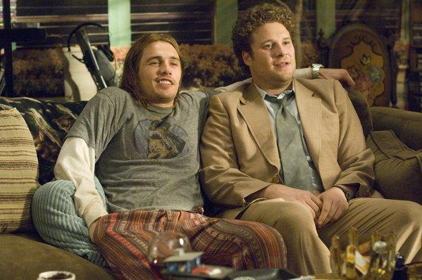 "James Franco, left, and Seth Rogen in ""Pineapple Express""."