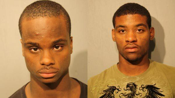 Tyrese Pearson, 17, (left) and Laquan Waters, 18, are charged with shooting Khalise Weatherspoon, age 4, on July 29.