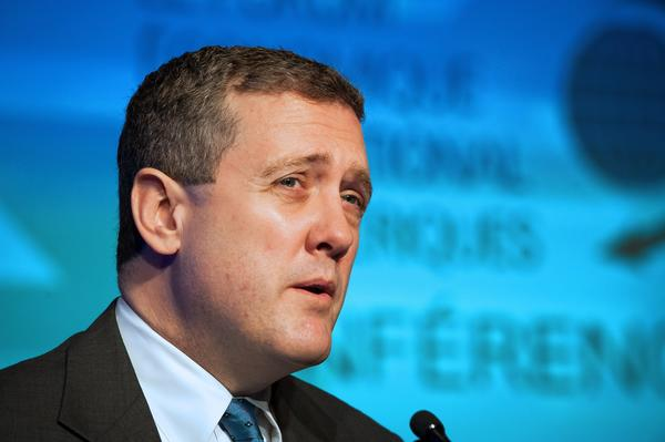 James Bullard, president of the Federal Reserve Bank of St. Louis, speaks during the International Economic Forum Of the Americas' Conference Of Montreal in Canada.