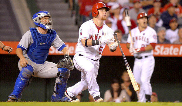 Kole Calhoun went 4 for 5 at the plate and belted a two-run home run to give the Angels a 7-5 victory over the Toronto Blue Jays on Friday.