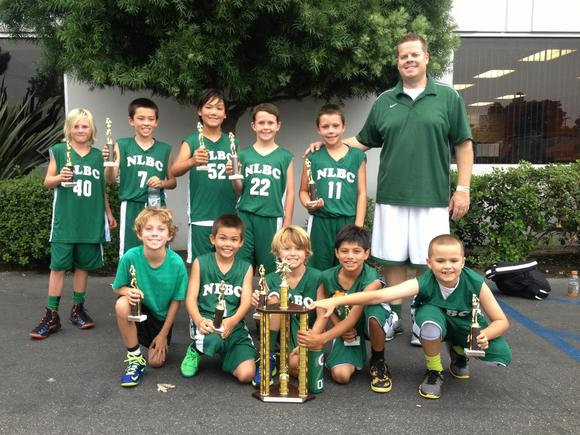 The Newport Lightning Basketball Club 9U team won the SoCal Ultimate Showcase.