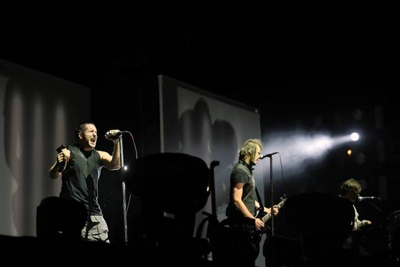 Nine Inch Nails perform at Lollapalooza on Friday.