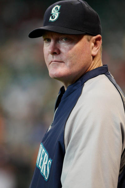Mariners manager Eric Wedge before a game in late July.