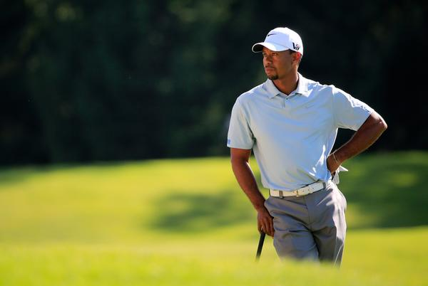 Tiger Woods during the third round of the WGC-Bridgestone Invitational. (Getty Photo)