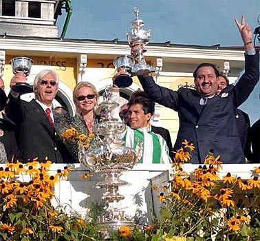 127th Preakness Stakes - Celebrating the Preakness win