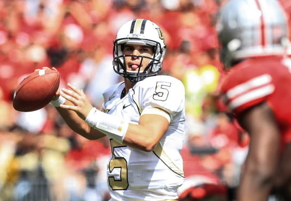 Matt Murschel argues UCF quarterback Blake Bortles, seen dropping back to pass against Ohio State, is the best college quarterback in the state of Florida.