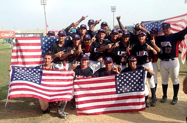 The USA Baseball 15U team poses for a photo after winning COPABE Pan American Games tournament on Sunday.