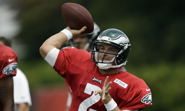 Philadelphia Eagles quarterback Matt Barkley says it's kind of rough knowing where he sits on the team's depth chart.