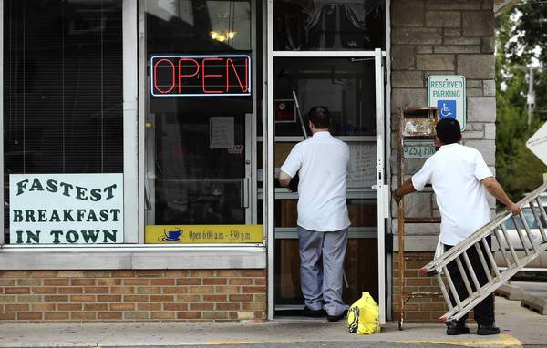 Louis' Family Restaurant in Joliet reopened Sunday, a day after a suspect gunned down Gerardo Franchini, 29, who was eating breakfast with his wife and two children. Some customers said they dined at the restaurant Sunday out of loyalty.