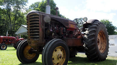 A Massey-Harris tractor on display at the Stoystown Lions Club annual antique tractor show.
