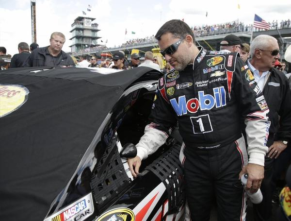 Sprint Cup Series driver Tony Stewart prepares for a race July 28.