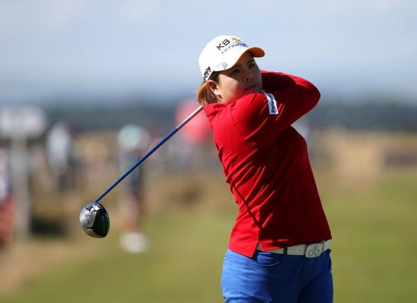 South Korea's Inbee Park, teeing off at the Women's British Open, finished more than a dozen strokes behind winner Stacy Lewis.