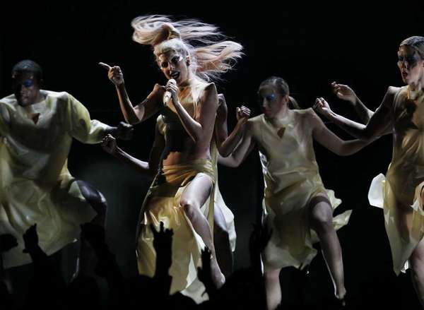 "Lady Gaga, performing at the Grammy Awards in 2011, lent her speaking voice to a marathon reading of ""Solaris."""