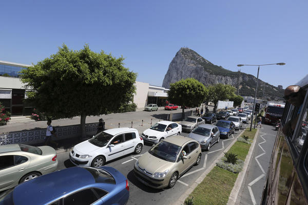 Spanish authorities have threatened to impose a 50-euro [$66] crossing fee for vehicles entering or leaving Gibraltar, the British territory at the southern tip of the Iberian Peninsula.