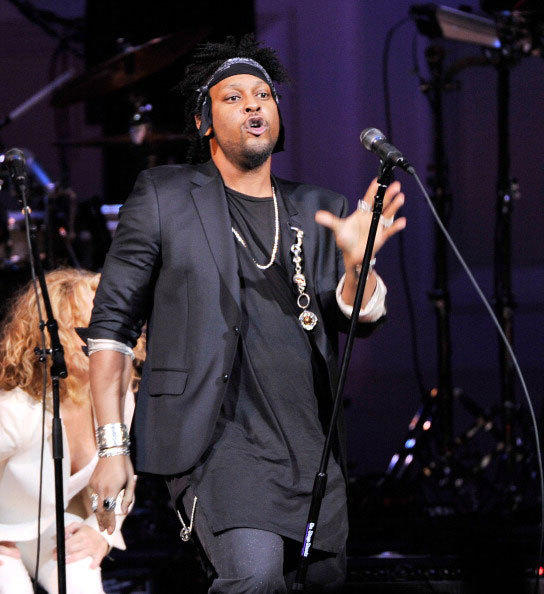 Singer D'Angelo performs during the Music of Prince at Carnegie Hall on March 7, 2013 in New York City.