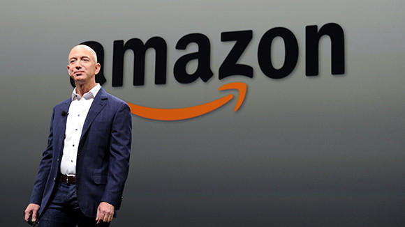 Jeff Bezos, CEO of Amazon, during a press conference in this September 06, 2012 file photo.