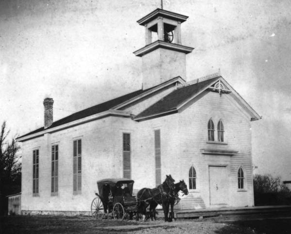 Ivanhoe Congregational Church, pictured here circa 1899, bills itself as the oldest organized church in Lake County.