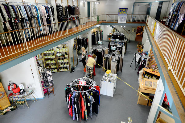 Shoppers take advantage of discounts at Lena's of Hagerstown on Monday. The store is closing it's doors next month after more than 50 years of business.