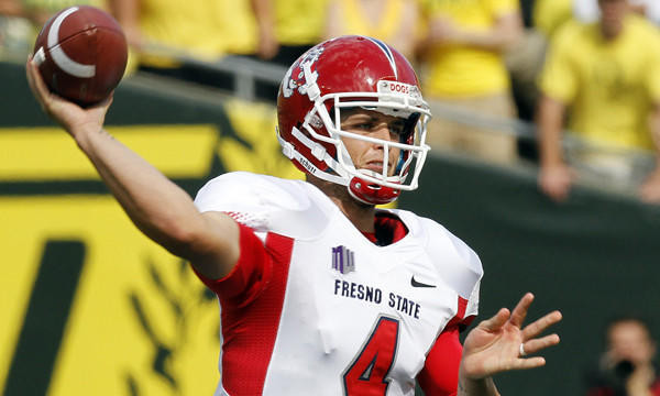 Fresno State quarterback Derek Carr is hoping to have an injury-free season in 2013.