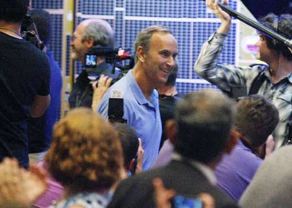 MSL project scientist John Grotzinger got a rock star welcome when he entered a post-landing press conference last year with the principals who successfully landed the Mars Rover Curiosity.