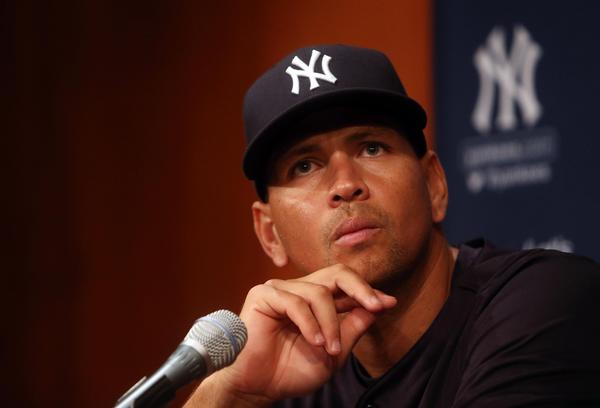 Aug 5, 2013; Chicago, IL, USA; New York Yankees third baseman Alex Rodriguez at a press conference before the game against the Chicago White Sox at US Cellular Field. Mandatory Credit: Jerry Lai-USA TODAY Sports ** LA OUT **