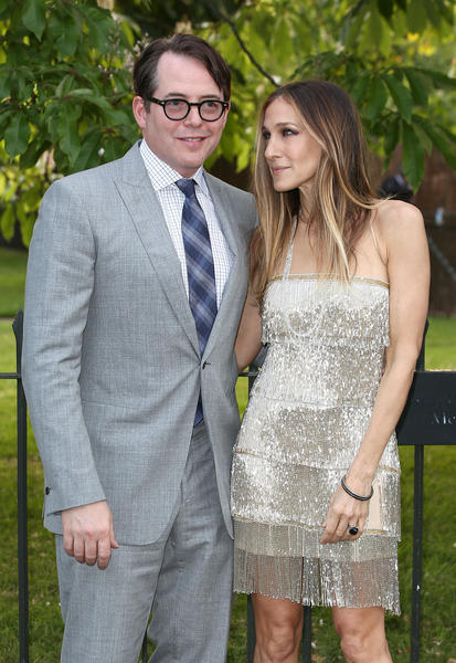 Sarah Jessica Parker and her husband Matthew Broderick attend the annual Serpentine Gallery summer party in London in June.