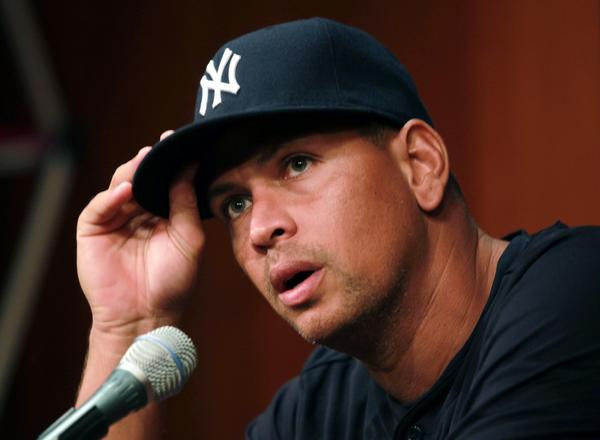 The New York Yankees' Alex Rodriguez speaks during press conference at US Cellular Field in Chicago, Illinois, Monday, August 5, 2013. (Scott Strazzante/Chicago Tribune/MCT)