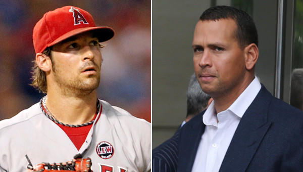Angels pitcher C.J. Wilson, left, says New York Yankees third baseman Alex Rodriguez needs to stop trying to be a role model.