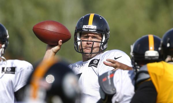 Quarterback Ben Roethlisberger's competitive instincts kicked in while he was having some fun at Pittsburgh Steelers training camp last week.