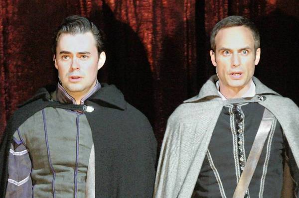 "John Lavelle as Rosencrantz and Jay Whittaker as Guildenstern in ""Rosencrantz and Guildenstern Are Dead."""