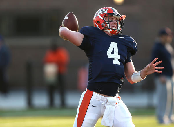Illinois quarterback Reilly O'Toole shot down rumors he might transfer.