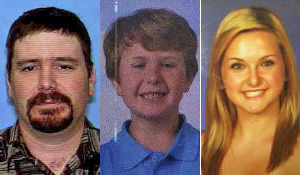 James Lee Dimaggio, left, and siblings Ethan, 8, and Hannah Anderson, 16. DiMaggio is suspected of killing their mother, Christina Anderson of Lakeside, and of kidnapping one or both of the siblings.