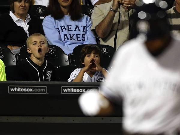 Young fans boo the Yankees' Alex Rodriguez in the eighth inning at U.S. Cellular Field Monday night.