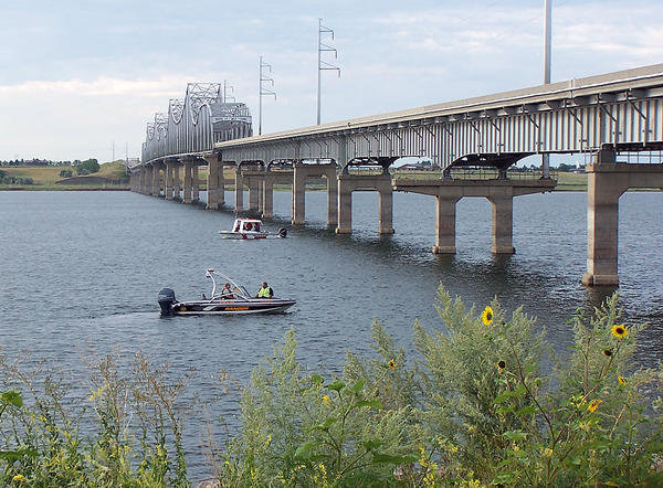 Pierre Fire and Rescue, South Dakota GFP and Standing Rock Game and Fish search in the area north of the U.S. Highway 12 Bridge west of Mobridge on the Corson County side.