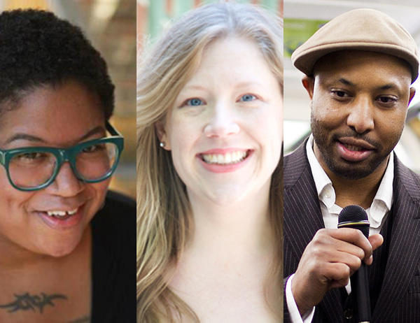 The finale of Live Lit on the Lake features storytellers (left to right) Samantha Irby, Dana Norris and Shannon Cason.