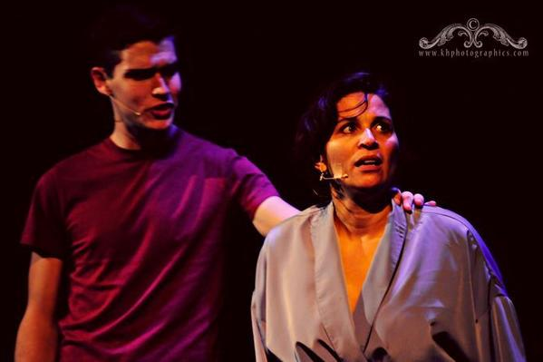 "Michael Gunn and Leesa Halstead in ""Next to Normal."""