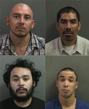 Arrested in connection with the alleged sandwich theft were, clockwise from top left: Edwin Uhuit, Daniel Garcia, Oscar Inglesias and Daniel Godinez.