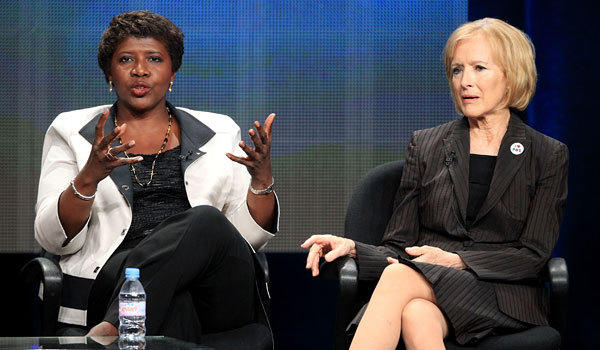 "Gwen Ifill and Judy Woodruff will co-anchor the ""PBS Newshour."" This marks the first time in history that a major network newscast has been anchored by two women."