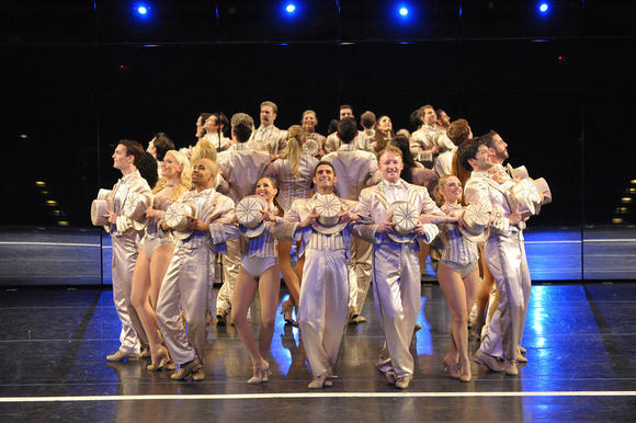 Cast of Olney Theatre Center's revival of 'A Chorus Line'