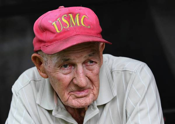 World War II veteran Kenneth Wolfe, 93, pictured at his home in Mount Dora, on Thursday, August 2, 2013, was among the forces when the U.S. and its allies invaded Gaudalcanal on Aug. 7, 1942, marking the start of the first major allied offensive in the Pacific during the war.