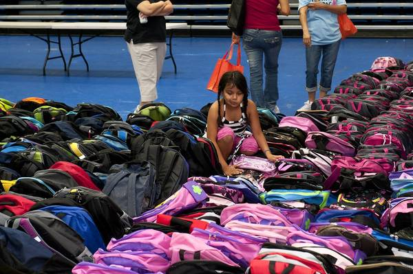 Elgin Community College will soon hold its annual Project Backpack event, which provides school supplies to kids in need in communities including St. Charles. Here, the 2011 event is shown.